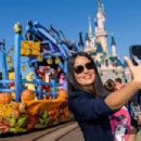 Salma Hayek at Disneyland in Paris