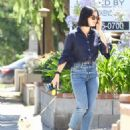 Lucy Hale – Takes her dog Elvis out for a morning walk in Studio City