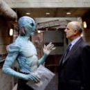 Doug Jones as Abe Sapien and Jeffrey Tambor as Tom Manning in Universal Pictures' Hellboy 2: The Golden Army.
