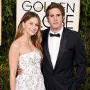 Melissa Benoist and Blake Jenner- 73rd Annual Golden Globe Awards- Red Carpet