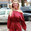 Christine McGuinness in Red Mini Dress – Out in Cheshire - 454 x 693
