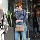 Actress Emma Stone is seen leaving the Meche Salon in West Hollywood, California on June 8, 2016 - 404 x 600