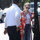 Emma Roberts – Leaves Hair Salon in LA