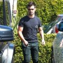 Taylor Lautner and his girlfriend  were seen leaving Fred Segal in West Hollywood, California on March 23, 2017 - 425 x 600