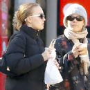 Vanessa Paradis and Lily Rose Depp – Out in New York City - 454 x 681