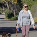 Kate Upton with her dog hiking in the Hollywood Hills