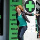 "Rachelle Lefevre Gets Physical on the ""Applebaum"" Set"