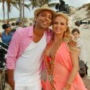Anna Semenovich & Arash on the set of Anna's video clip