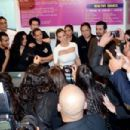 "Kim Kardashian: attended the opening of ""Millions of Milkshakes"" at the Avenues Mall in Kuwait City"