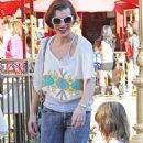 Milla Jovovich & Daughter Ever Out in LA