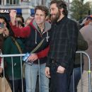 Jake Gyllenhaal at the BBC Radio 1 Studios (November 30)
