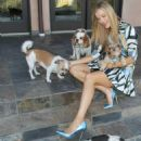 Joanna Krupa With Her Dogs out in Los Angeles - 454 x 548