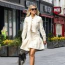 Ashley Roberts – In all white aeen leaving Global Studios in London - 454 x 585