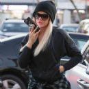 Khloe Kardashian in Tights at PetSmart store in Woodland Hills