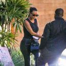 Kim Kardashian – Seen at Cafe Habana in Malibu
