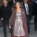 Sarah Jessica Parker – Arrives at The Late Show With Stephen Colbert in NYC - 454 x 681