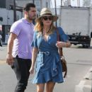 Reese Witherspoon in Denim Dress at Gjelina in Venice - 454 x 681