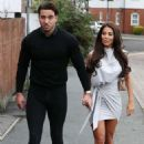 Yazmin Oukhellou – 'The Only Way Is Essex' TV show filming in Brentwood - 454 x 681