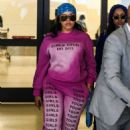 Angela Simmons – Wears pink sweats and sneakers at LAX - 454 x 681