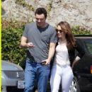 Seth MacFarlane and Emilia Clarke Brunch At Mel's Diner in Los Angeles, 9/25/12