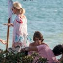 Valeria Mazza – Enjoys a Holiday With Her Family on the Beach in Marbella 8/11/2016 - 454 x 451