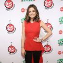 """Actress Lucy Hale attends ABC's """"25 Days Of Christmas"""" Celebration at Cucina at Rockerfellar Center on December 7, 2014 in New York City"""