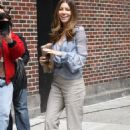 Jessica Biel - Arrives At Letterman In New York , 2010-06-07