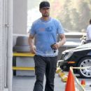 Josh Duhamel is spotted taking his baby boy Axl out for lunch in Santa Monica, Calfiornia on February 3, 2015