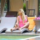 Aisleyne Horgan Wallace in Pink Swimsuit in Los Angeles - 454 x 303
