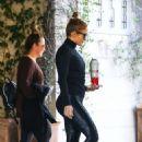 Jennifer Lopez – Spotted in satin gym pants in LA