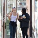 Lily-Rose Depp with Leila Bekhti – Pictured at Cafe Quartier General in Paris