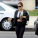 Lucy Hale – Leaving the Starbucks in Studio City