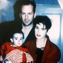Bruce Willis, Demi Moore & Rumer in 1989