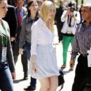 Dakota Fanning headed to her ride yesterday, April 19. in New York City