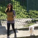 Jenna Dewan goes for a hike with the dogs