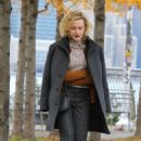 Emmy Rossum and Julia Garner – Filming 'Modern Love' at a Brooklyn Park in NY - 454 x 696