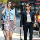 Teri Hatcher goes for a walk with her daughter Emerson Tenney on August 14, 2015 in New York City - 418 x 600