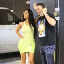 Kim Kardashian at the Westfield Century City Mall in Los Angeles