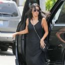 Kourtney Kardashian in Long Black Dress – Shopping in Los Angeles
