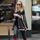 Sarah Harding: out and about near her London home