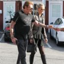 Johnny Hallyday is seen visiting the Brentwood Country Mart with his wife Laeticia on February 2, 2015 in Brentwood, California - 448 x 600