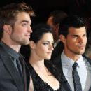Robert Pattinson, Kristen Stewart and Taylor Lautner at The Twilight Saga Breaking Dawn UK Premiere November 16, 2011