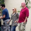 Abigal Breslin took a break on the set of her new film The Hive in Los Angeles yesterday, July 18, to grab a bite to eat