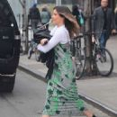 Sophia Bush in Long Dress out and NYC - 454 x 550