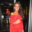 Stephanie Davis Jennifer Metcalfe and Chelsee Healey at Menagerie Restaurant in Manchester