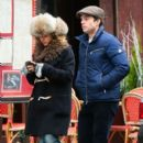 Margarita Levieva and Sebastian Stan are seen on a stroll