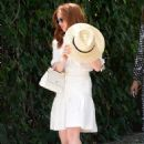 Isla Fisher – Arrives at Stella Mccartney H.E.A.R.T. Brunch in Beverly Hills