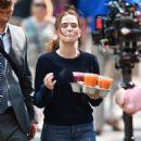 Zoey Deutch on 'Set It Up' set in New York City - 454 x 568