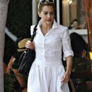 Brittany Murphy Leaving Fred Segal In Santa Monica, July 17 2008