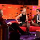 Graham Norton, Jennifer Lawrence and Eddie Redmayne on The Graham Norton Show - 454 x 295